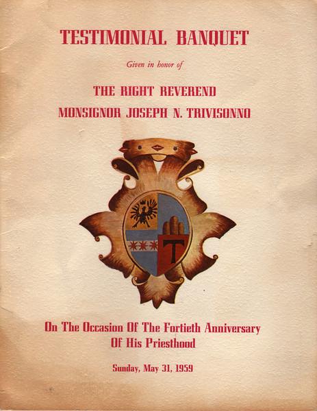 1964 Trivisonno Anniversary Program