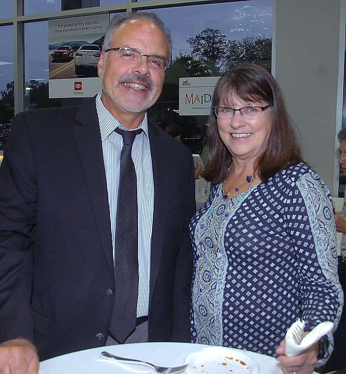 """. Lower Merion Township Manager,Ernie McNeely andhis wife Sherry were spotted enjoys the evening at \""""A Taste of Ardmore\' to benefit the Ardmore Initiative."""