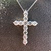 3.24ctw Round Brilliant Diamond Cross 3