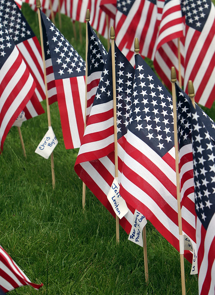 Chelmsford flags for Memorial Day 052319