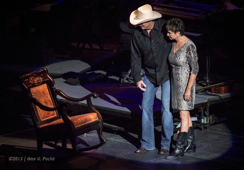 …and joined onstage by Nancy Jones to give the rocking chair a nudge as they walked away...