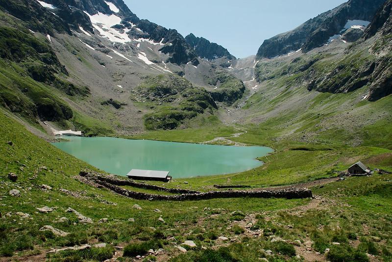 Lac de la Muzelle og Refuge de la Muzelle