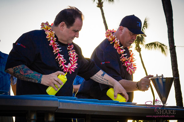 Chefs Rick Tramonto (Tramonto Steak & Seafood) and Greg Grohowski (Hyatt Regency Maui Resort & Spa). © 2013 Sugar + Shake