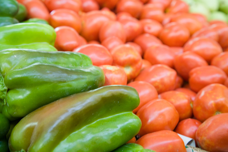 Vegetables for sale on the market, Spain