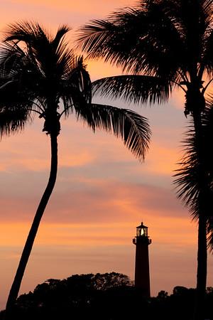 Sunset at Jupiter Lighthouse