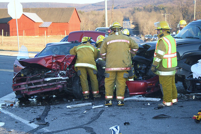 Two Vehicle Accident, SR309 & SR895, Snyders, West Penn (2-26-2012)