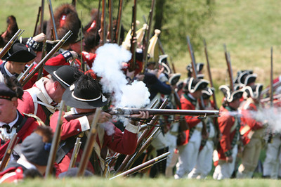 Musket Fire - Battle at Brandywine - Brandywine Battlefield - Chad's Ford, Pennsylvania