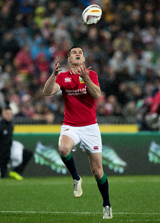 Johnny Sexton  during game 9 of the British and Irish Lions 2017 Tour of New Zealand, the second Test match between  The All Blacks and British and Irish Lions, Westpac Stadium, Wellington, Saturday 1st July 2017 (Photo by Kevin Booth Steve Haag Sports)  Images for social media must have consent from Steve Haag