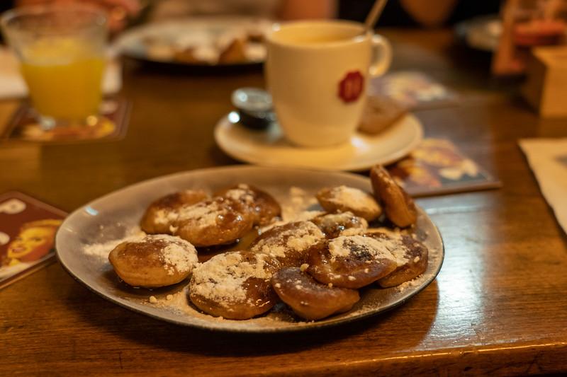 Poffertjes mini pancakes in Amsterdam