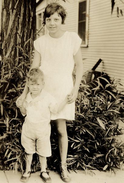 1929, Art & Bernice, his sister