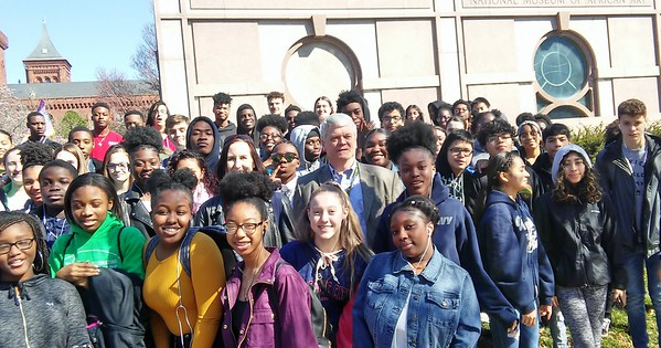 Ms. Hanford's field trip to the National Museum of African Art  3-19-2019