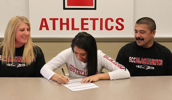 Cecilia Alvarez college signing 1-25-12
