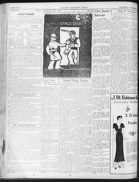 Daily Trojan, Vol. 23, No. 55, December 02, 1931