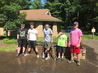 Luther Woods Garden Cleanup