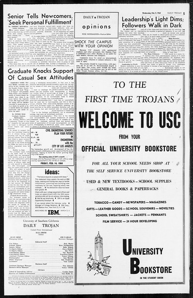 Daily Trojan, Vol. 55, No. ?, February 05, 1964