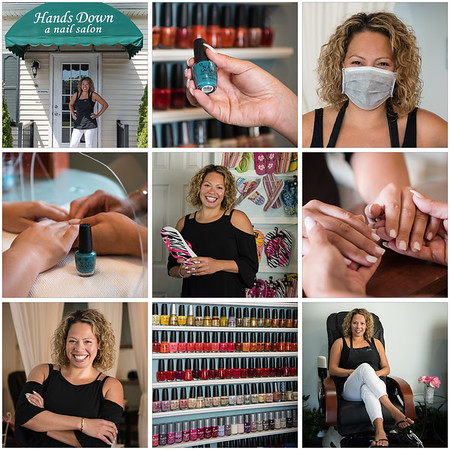Hands Down Nail Salon Branding Session with Faith