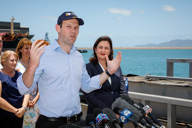 06 December 2016 - Townsville, Qld - Adani Carmichael coal mine announcement in Townsville.  Senator Matt Canavan during a media conference - Photo: Cameron Laird (Ph: 0418 238811 - cameron@cameronlaird.com)