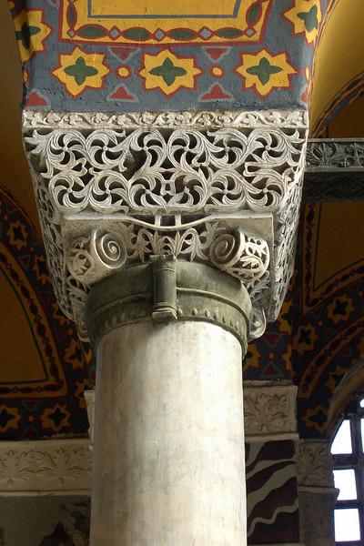 94. Hagia Sophia (Aya Sofya) column capital.