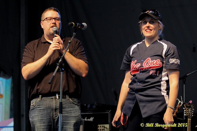 Gruff & Jenn from The One radio in Leduc and Stony Plain - Taste of Edmonton 2015 151