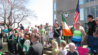 2012 Cleveland Saint Patrick's Day Parade - Singing of the National Anthems and Step-off