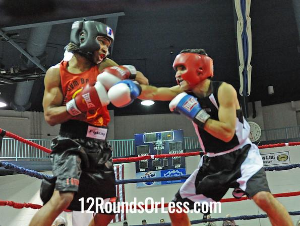 Mario Bulter (Kings Gym) vs Ronnie Hamayel (Southside B.C.)  141 Pound-Novice  Bout # 7
