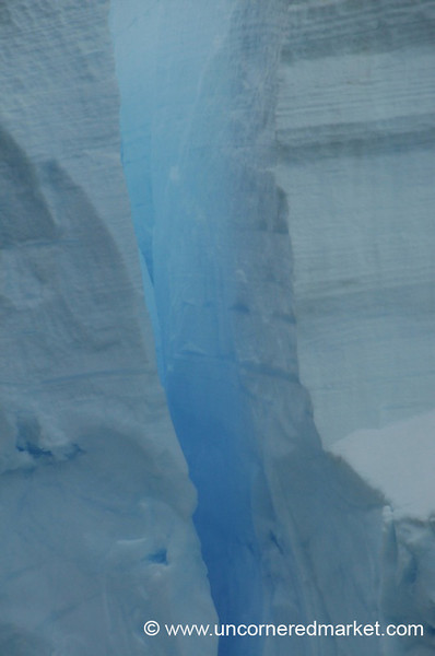 Incredible Blue of Ice in Antarctica