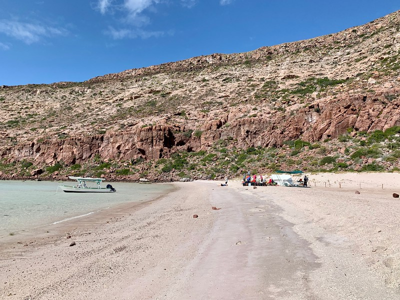 Isla Partida Beach while kayaking in Baja Mexico