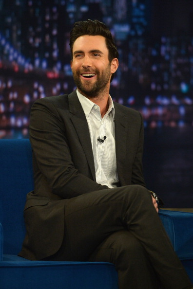 ". NEW YORK, NY - JUNE 14:  Adam Levine visits ""Late Night With Jimmy Fallon\"" at Rockefeller Center on June 14, 2013 in New York City.  (Photo by Theo Wargo/Getty Images)"