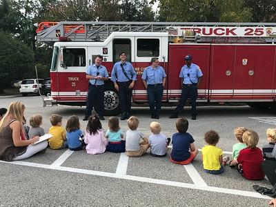 Fire Department Visits Preschool