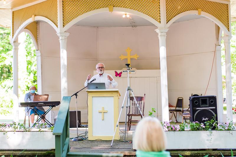 Rev. Kevin Adams preaching at Vespers
