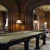 The billiard table in the Library at Penrhyn Castle, Gwynedd