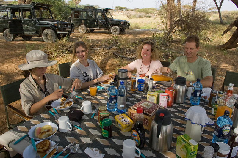 Breakfast after our morning Shaba gorge hike