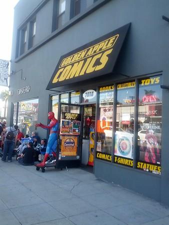 2014 1026 John Carpenter at Golden Apple Comics