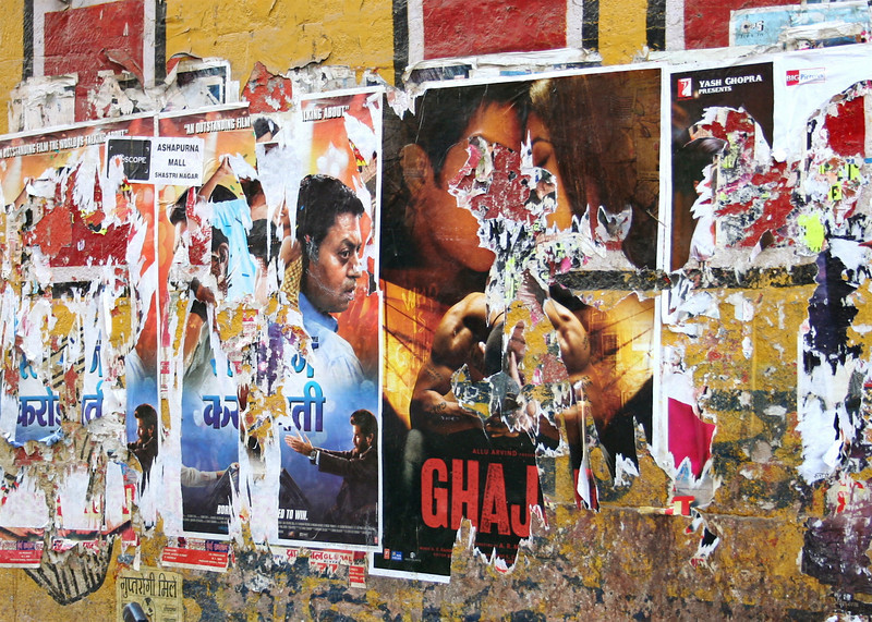 "wall advertisements (including one for ""slumdog millionaire"").  jodhpur, rajasthan"