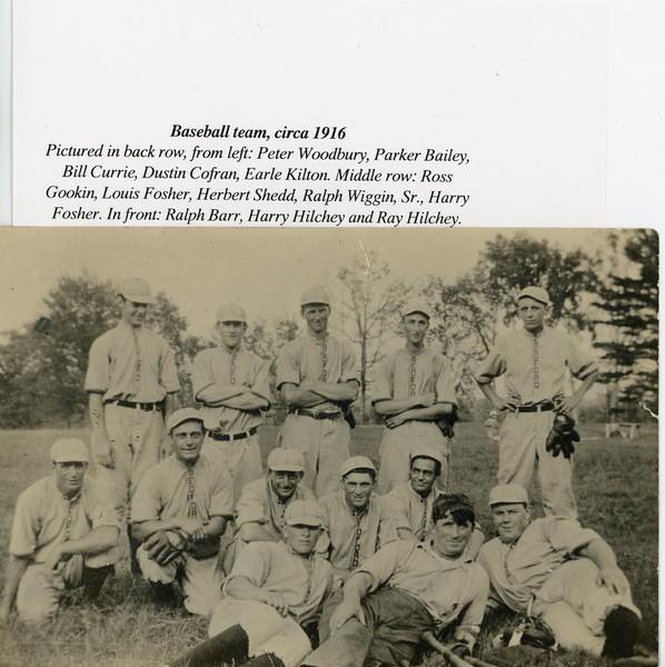 Bedford Baseball Team, circa 1916