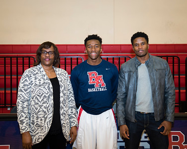 Basketball Seniors with Family