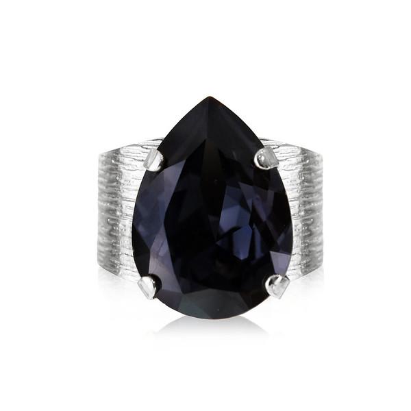 Cassic Drop Ring_Graphite-rhodium.jpg