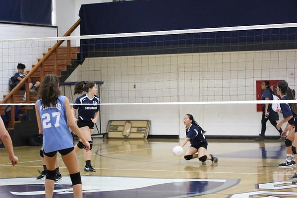 Girls JV Volleyball vs Pilibos 10/18/16