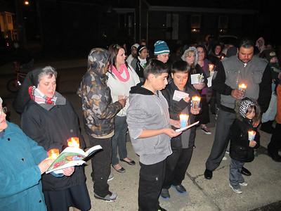 Fire Victim Vigil, Coal St, Shenandoah (3-27-2013)