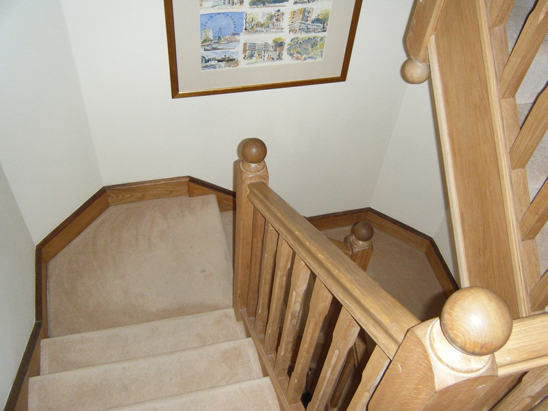 Lookign from the 1st floor to the stair landing.