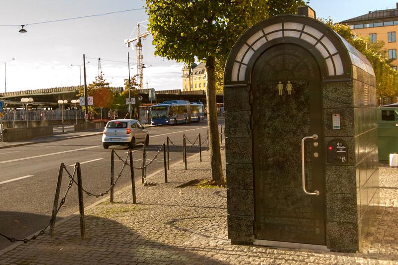 Public pay toilet