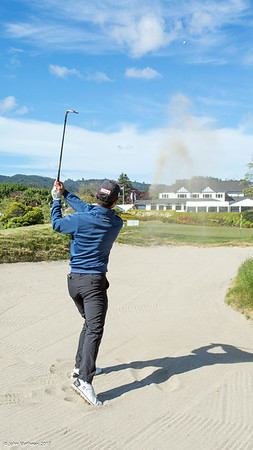 Jonathan Wijono from Indonesia on the 18th hole on Practice Day 2 of the Asia-Pacific Amateur Championship tournament 2017 held at Royal Wellington Golf Club, in Heretaunga, Upper Hutt, New Zealand from 26 - 29 October 2017. Copyright John Mathews 2017.   www.megasportmedia.co.nz