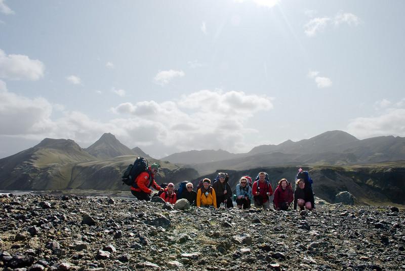 Ingvi, Þorbjörg, Ragnheiður, Berglind, Magnea, Álfhildur, Pierre, Amandine og Erna