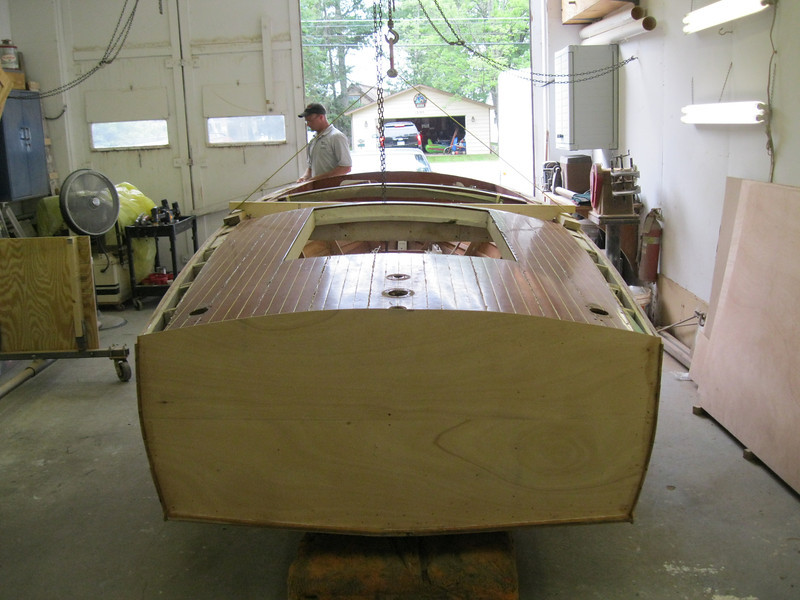 Rear view of hull right side up.
