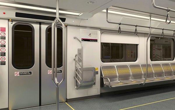 New vehicles for Red/Purple Line subway