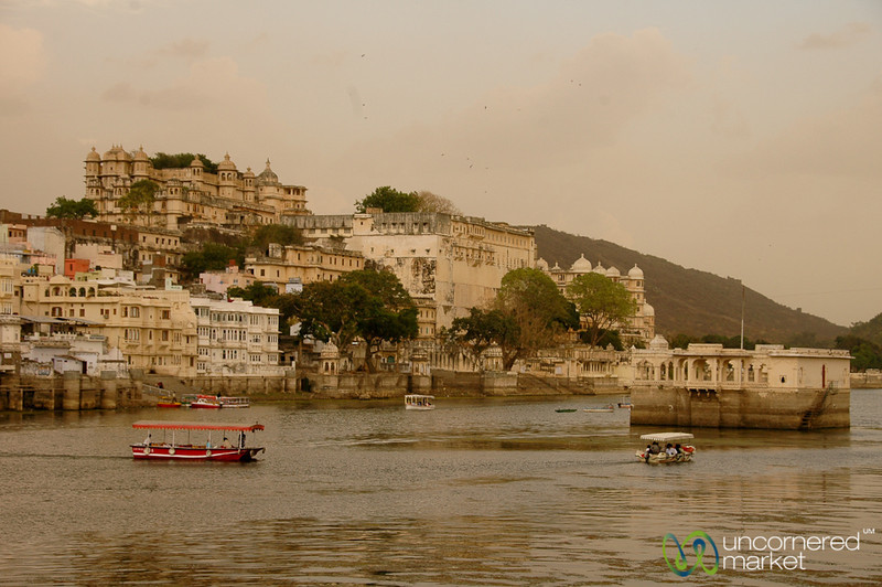 Boats Along Lake Pichola - Udaipur, India