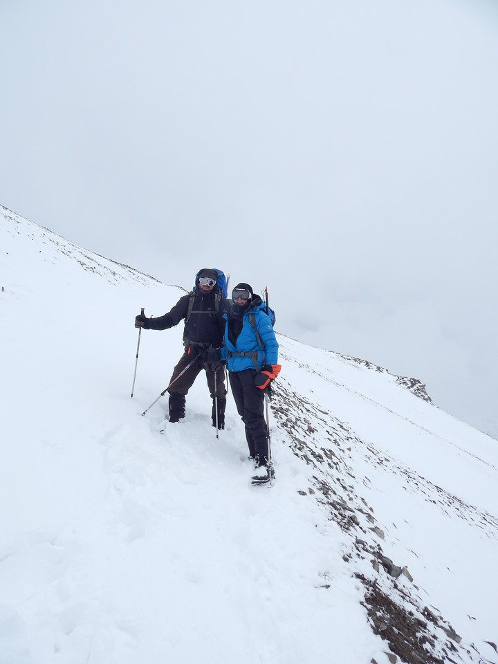 Moving up to Camp 2 in snow storm