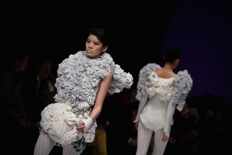 . Models showcase designs on the catwalk during WSM China Knitwear Fashion Design Contest 2013 on the third day of Mercedes-Benz China Fashion Week Autumn/Winter 2013/2014  at 751 D.PARK Central Hall on March 26, 2013 in Beijing, China.  (Photo by Feng Li/Getty Images)