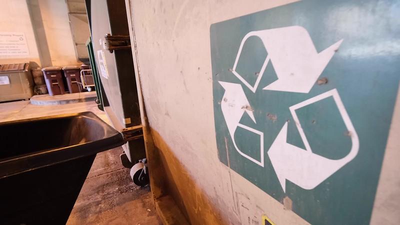 Trash / Recycling Compactors b-roll