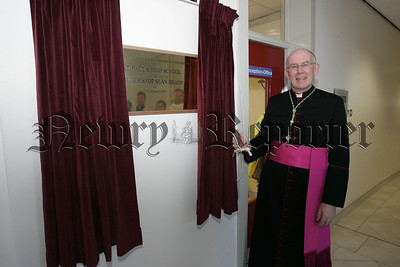 Archbishop Sean Brady officially opens the new extension at St Paul's High School Bessbrook. 07W5N4
